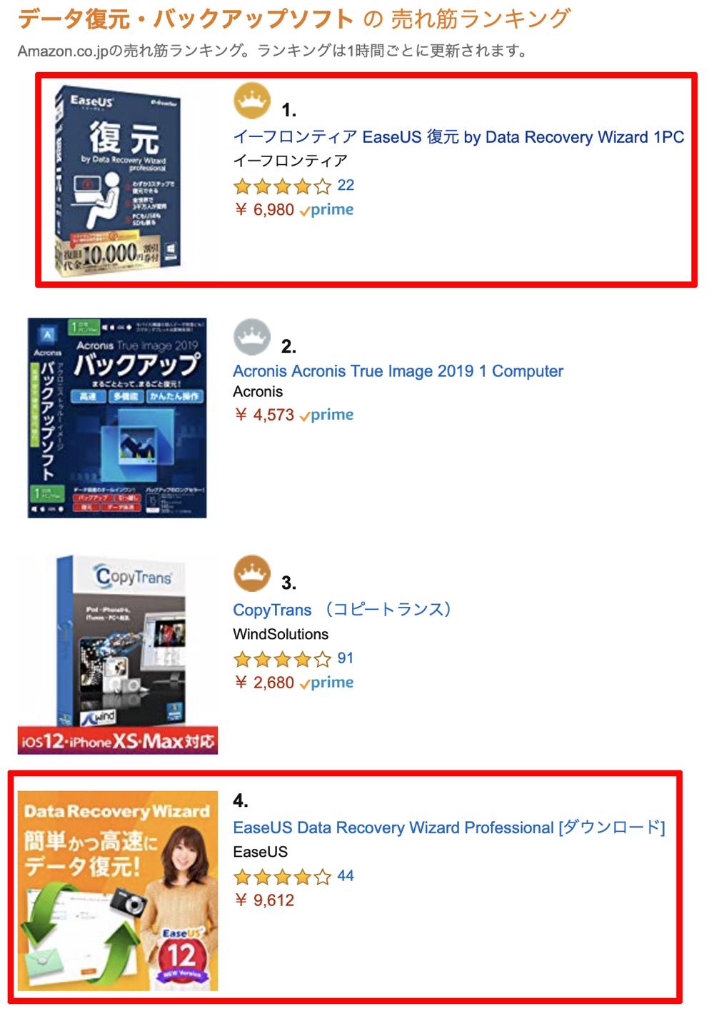 上位表示アマゾンのコピー